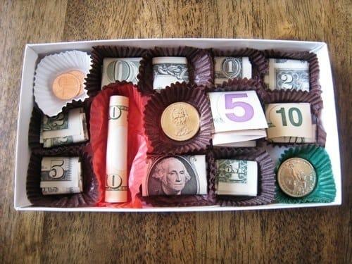 candy box chocolate money